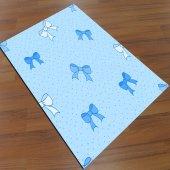 Eç 0123 3d Mavi Fiyonklu Çocuk Halısı