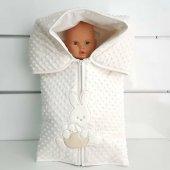 Tavşan Nohut Polar Krem Kışlık Bebek Kundak Battaniye