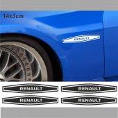 Renault Çamurluk Oto Sticker 4 Adet