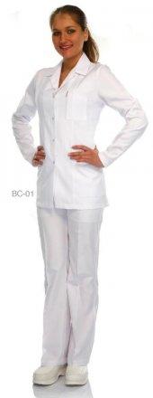 Laborteks Doktor Hemşire Önlüğü Bayan Bc 01 Ceket Boy Uzun Kol Ce