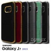 Samsung Galaxy J7 Kılıf Motomo Lüx Infıny Zırh +kırılmaz Cam