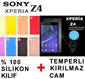 Sony Xperia Z4 Kılıf + Kırılmaz Ekran Koruma Cam