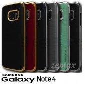 Samsung Galaxy Note 4 Kılıf Motomo Lüx Infıny Zırh + Cam