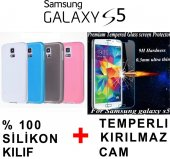 Samsung Galaxy S5 Kılıf Cam Ekran Koruyucu