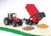 Bruder Massey Ferguson 7480 Traktör & Römork Br02045