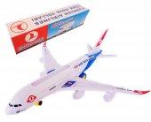 Oyuncak Uçak Işıklı Sesli Hareketli Thy Yolcu Uçak Araba 45cm