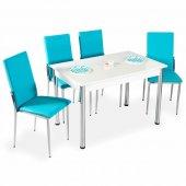 Olimpiya Desenli Yemek Masası Tak Masa Sandalye Mutfak Takımı