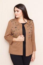 Modailgi Miranda İşlemeli Ceket Camel