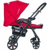 Beneto Bt 2040 Leone Sistem Lüx Çift Yönlü Bebek Arabası Kırmızı