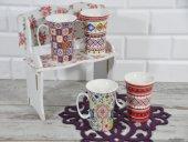 Cooker Porselen Kupa Bardak Kilim Desenli