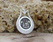 Lale Tasarım Kişiye Özel Arapça İsim Yazılı 925 Ayar Gümüş Bayan Kolye