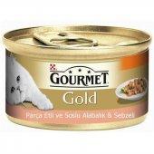 Gourmet Parçaetli&soslu Alabalık&sebzeli Kedi Maması 85gr(6 Adet)