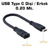 Type C Usb 3.1 Dişi Erkek Uzatma Kablo