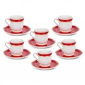 Karaca Hanzade Kırmızı 6 Lı Kahve Fincan Takımı Ka 003