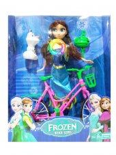 Frozen Karlar Kraliçesi Elsa Anna Bebek Ve Olfa Bisiklet Sesli