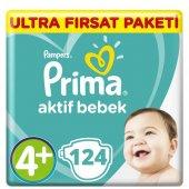 Prima Aktif Bebek 4+ Bebek Bezi Süper Fırsat Paketi 124 Adet