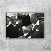1936 Atatürk Ve İnönü, Mustafa Kemal Atatürk 19 Kanvas Tablo