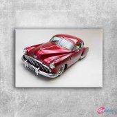 Kirmizi 1949 Model Buick Otomobiller 1 Eski Amerik...