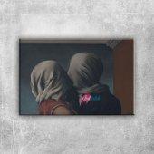 Rene Magritte Asiklar Yagli Boya Klasik Sanat Kanv...