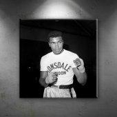Muhammed Ali Boks 6 Siyah Beyaz Dekoratif Kanvas T...