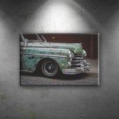 Kübada Eski Bir Otomobil Araçlar Dekoratif Kanvas ...