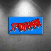 Spiderman Logo Süper Kahramanlar Dekoratif Kanvas ...