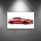 Ford Mustang İllustrasyon Otomobil Araçlar Dekorat...