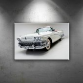 Amerikan Klasik Otomobil Fotoğraf Dekoratif Kanvas...