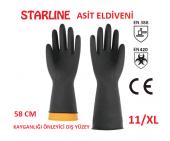 Starline Kimyasal Kauçuk Eldiven Asit Eldiveni Tır...