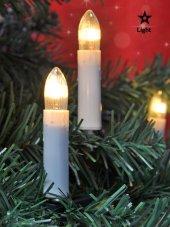 Yılbaşı Ağacı Mum Işık Ağaç Süsü Mandallı İç Mekan 30adet
