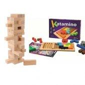 Ahşap Zeka Ve Strateji Oyunları Katamino Ve Jenga Oyunu Algı Gelişim Oyunları Kutu Oyun Setleri