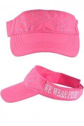 We Wear Pink Sloganlı Taşlı Şapka
