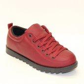 Oland Bordo Bağcıklı Ayakkabı