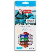 Mikro Ab 09 9 Ml 12 Renk Su Bazlı Akrilik Boya Faber Castell Aynı