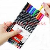 Tgb Marka Stabilo İnce Keçe Uçlu Keçeli Kalem 10 Renk Fine Line