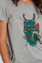 Zoey Böcek Baskılı Grimelanj Tişört