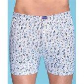 3lü Paket Berrak Çamaşırları 100 Pamuk Desenli Erkek Boxer