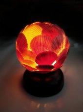 Doğan Deniz Kabuklarından Yapılmış Top Lamba Abajur Gece Lambası