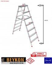 Beykon 7+7 Çift Çıkışlı Alüminyum Merdiven