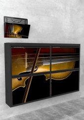Evbox 4lü Keman Baskılı Metal Ayakkabılık Gazetelik Fa 054