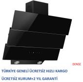 Alveus Mod 3003 Black Kumandalı Yatay Siyah Cam Davlumbaz