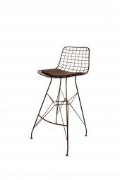 Kenzlife Kafes Tel Bar Sandalyesi Zengin Syh Tekli (1)