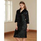 Catherines 1346 Kadın Ev Giyim Elbise Siyah