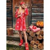 Penye Mood 8418 Kadın Sabahlık Kırmızı