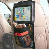 Araç İçi Koltuk Arkası Tablet Tutucu Cepli Organizer Düzenleyici