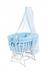 Tahterli Culle Beşik Beyaz Mavi