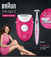 Braun Silk Epil 3 3420 + Bikini Trimmer Epilatör