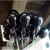 50 Adet Siyah Balon Baskısız Dekorasyon 12inç
