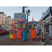 şişme Gel Gel Palyaço Çift Taraflı Mağaza Dükkan Önü Reklam 3.5m