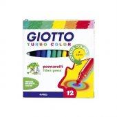 Giotto Turbo Color Keçe Uçlu Boyama Kalemi 12li Paket